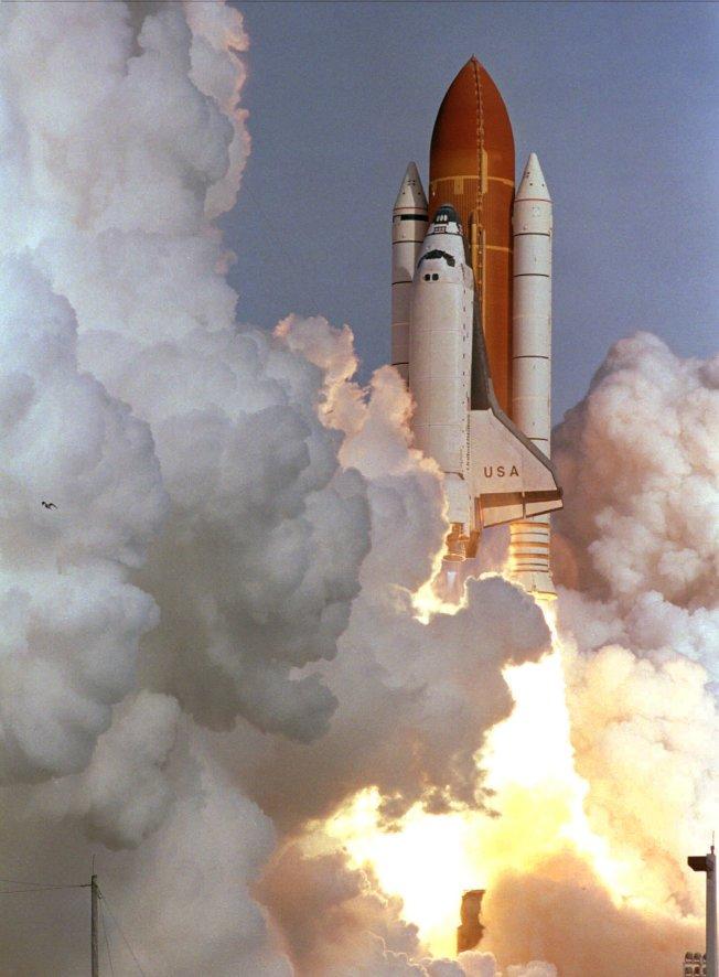 「哥倫比亞號」太空梭實現多次飛天的夢想。(美聯社)