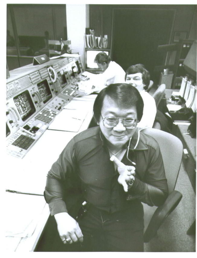 周耀偉在NASA任務控制中心。(周耀偉提供)