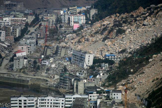 北川災區慘不忍睹。(Getty Images)
