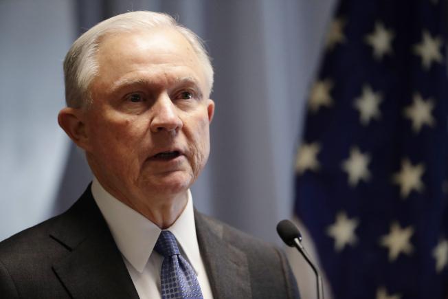 司法部長塞辛斯表示,要把打擊暴力和毒品犯罪當做司法部的頭號使命。(美聯社)