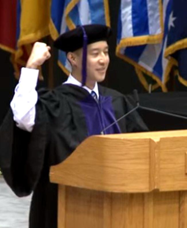 林立杰曾是杜克大學法學院的畢業生演講者。(杜克大學)