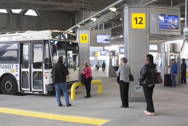華盛頓大橋巴士總站16日起啟用。(美聯社)
