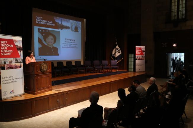 全美亞太裔總商會(ACE)再度攜手聯邦商務部少數族裔發展局,在華府舉行第二屆全國亞太裔商業峰會。(記者羅曉媛/攝影)