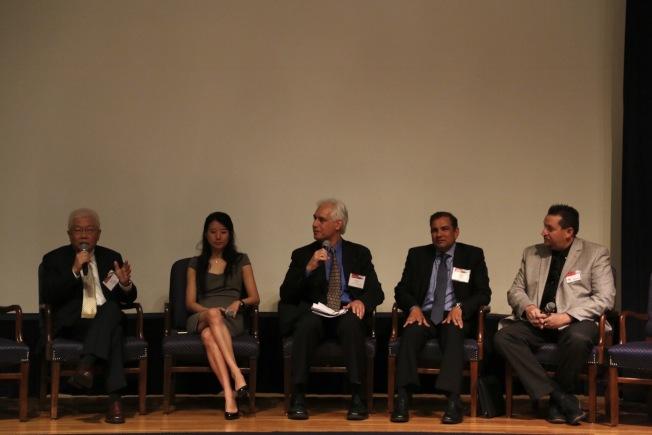 全美亞太裔總商會(ACE)再度攜手聯邦商務部少數族裔發展局,在華府舉行第二屆全國亞太裔商業峰會。亞太裔企業家分享融資、拓展人脈、創業等經驗。(記者羅曉媛/攝影)