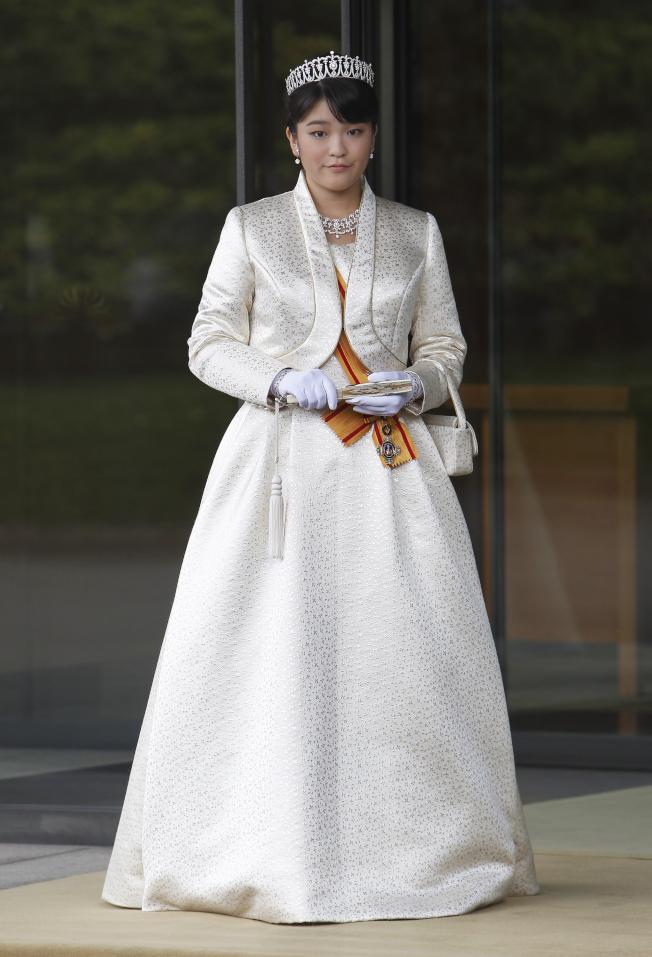 25歲的日本真子公主。(美聯社)