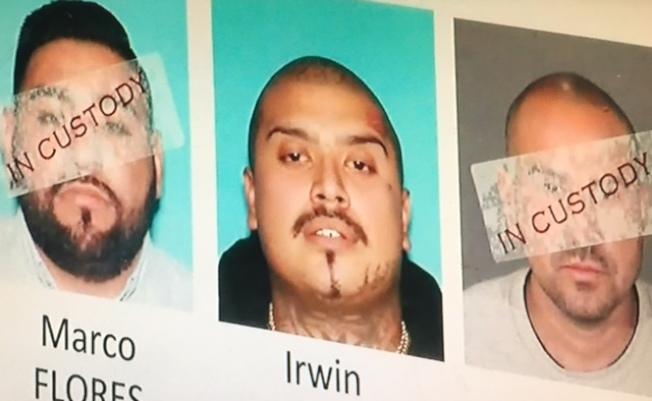 目前還有三嫌在逃。(NBC4電視台翻拍)