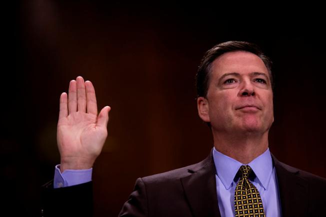 柯米曾在國會作證時說:無人逼我停止調查。(Getty images)