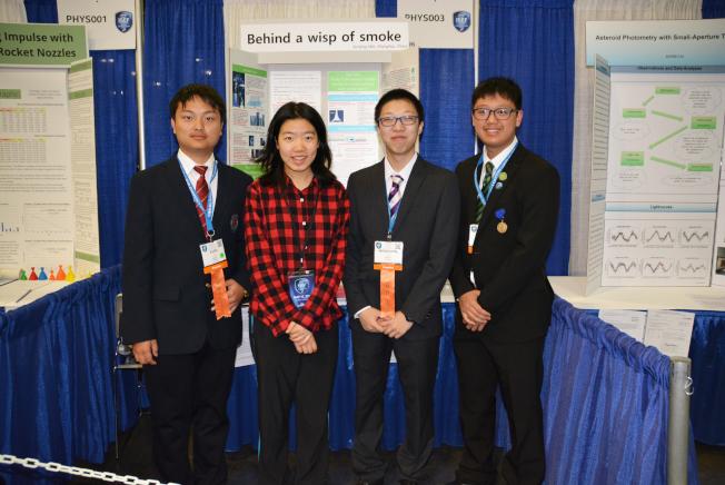 中國學生團是陣容最大的國外參賽者,左起劉宇飛、魏洵婧、李孟洋、黃河。(記者丁曙/攝影)