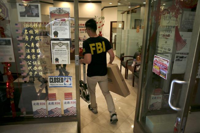 FBI日前對聖蓋博市夏利士律師事務所及相關的加州投資移民基金(CIIF)突檢。(取自美聯社)