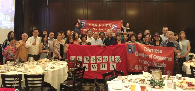 大奧蘭多台灣商會年會中,與會來賓呼籲為台灣加入WHA發聲。(記者陳文迪/攝影)