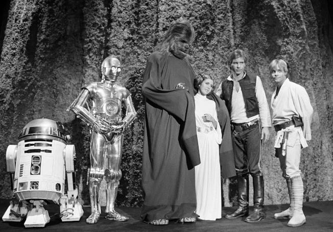 1978年11月13日,第一部《星際大戰》電影主要角色齊聚洛城。美聯社
