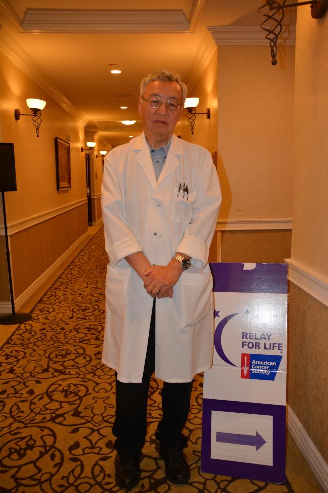 腸胃消化器專家臧大同醫師到場做「胃腸腫瘤檢測及治療」專題演講。(記者高梓原/攝影)