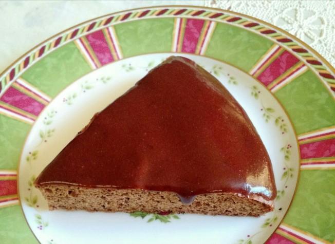 蛋糕加上堅果巧克力醬