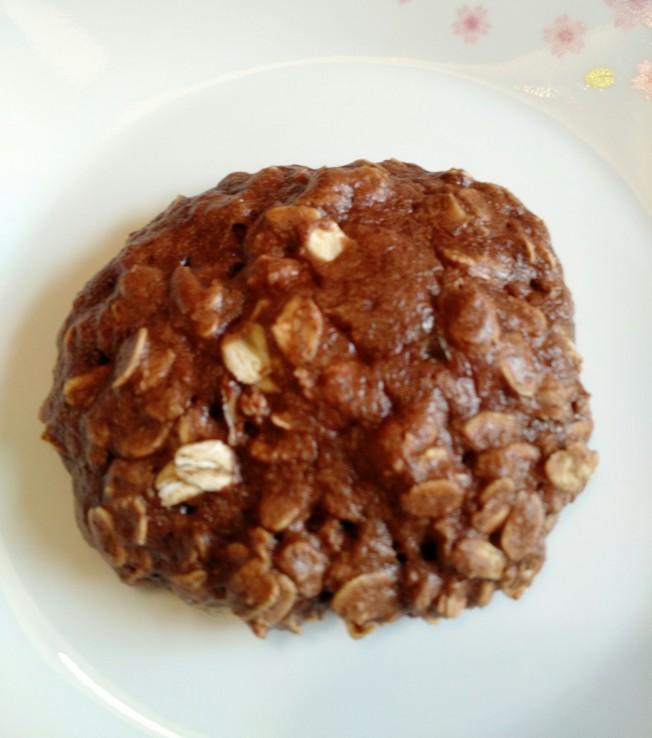 燕麥餅乾加上堅果巧克力醬
