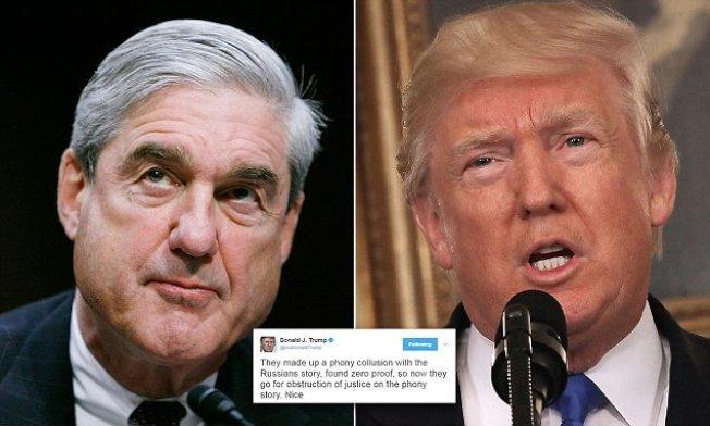 特別檢察官穆勒展開了對川普總統是否涉及妨礙司法的調查。川普15日清早連推兩文抨擊。(Getty Images)