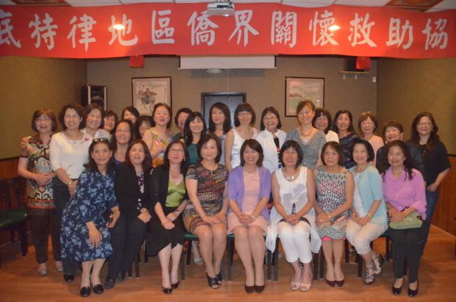 底特律地區僑界關懷救助協會成立大會,女性成員出席踴躍 。(記者馮紀漪/攝影)