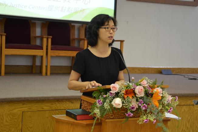 劉元芬表示,勵馨成立13年幫助了千餘名婦女和400多名兒童和青少年。(記者牟蘭/攝影)