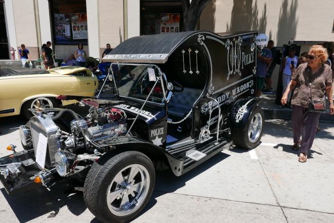 參展車輛也有更古老的警車。(記者李雪/攝影)