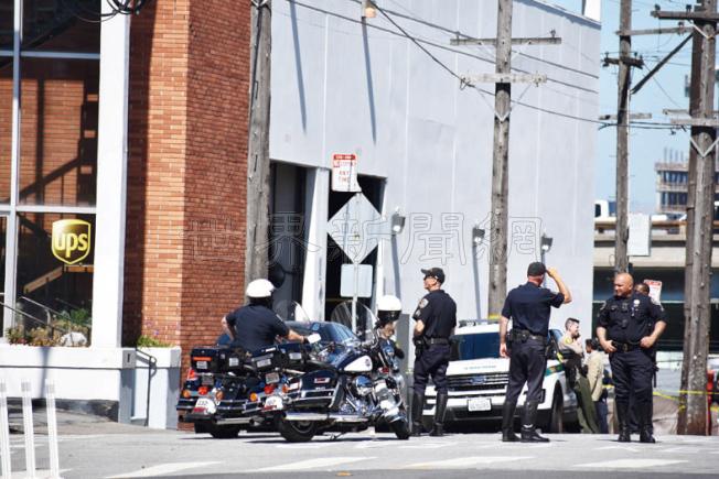 至今警方仍在調查槍手林占美在UPS大樓內開槍的真正原因。(記者李秀蘭/攝影)