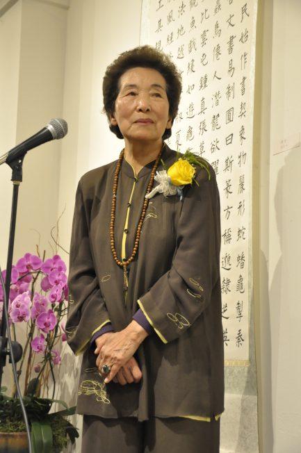 劉惠如與蔣雲仲結婚60年、相識70年,和現場觀眾講述生活往事。(記者林亞歆/攝影)