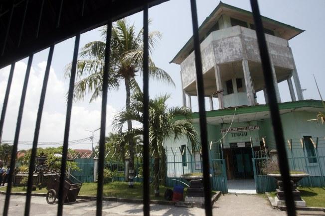 印尼峇里島科洛布坎監獄。(歐新社)
