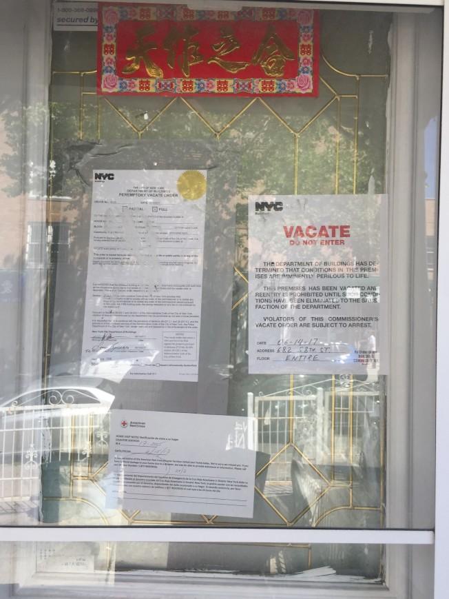 日落公園一棟兩家庭房屋因非法改建出租被查封。(記者黃伊奕/攝影)