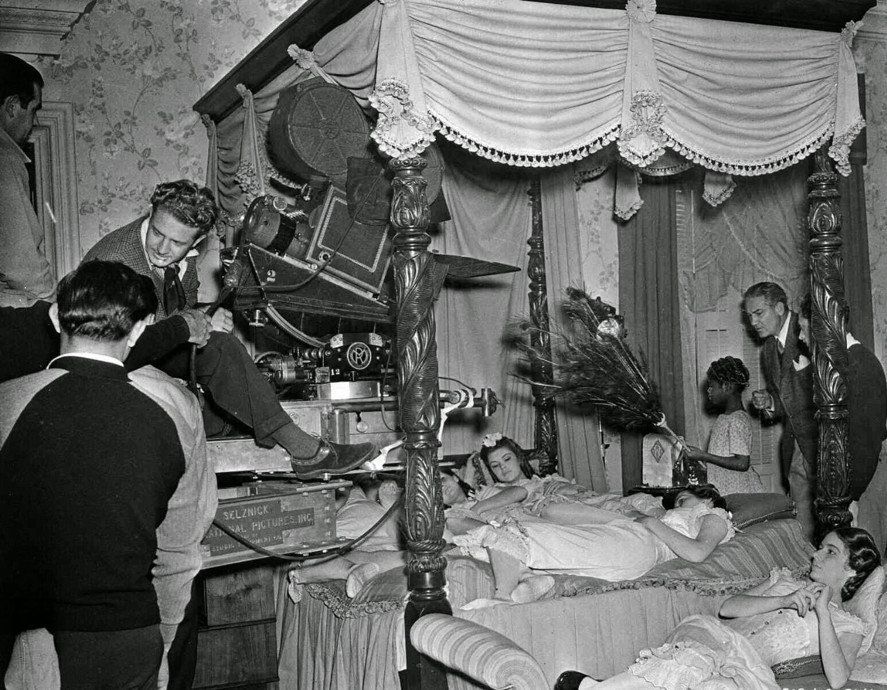 亂世佳人拍攝現場。取自/IMDb