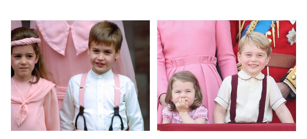威廉王子參加親人的婚禮。喬治小王子觀賞年度皇家儀隊遊行。