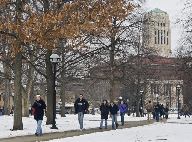 雖然地處中西部,密西根大學很早就進入中國。(美聯社)