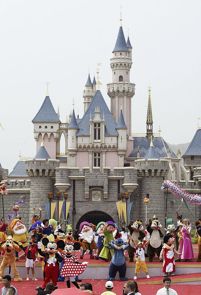 2005/9/12香港迪士尼樂園。(Getty Images)