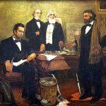 1864年8月19日:林肯總統與兩位道格拉斯先生