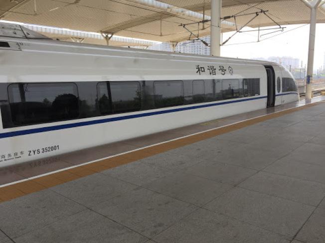 京滬高鐵列車。