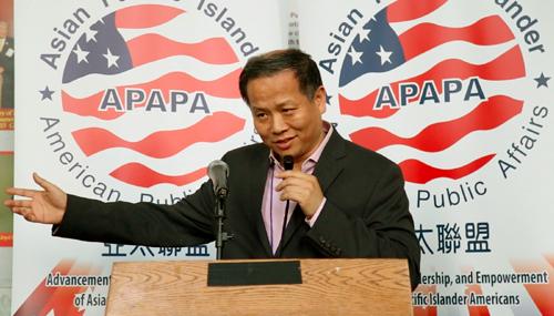 美國華人聯合會會長薛海培表示,明年清明,UCA將在全美50州,為援華美軍老兵掃墓,目前正在計畫頒發獎學金給援華美軍遺孤後代。(美國華人聯合會提供)