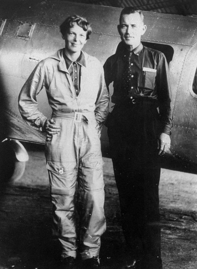 厄哈特(左)與她的導航員努南。(美聯社)