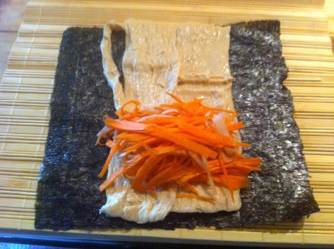 素食紫菜豆皮卷