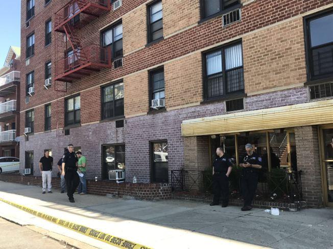 華裔聚集的貝瑞吉大道交Fort Hamilton大道,一棟公寓樓內發生命案。(記者黃伊奕/攝影)