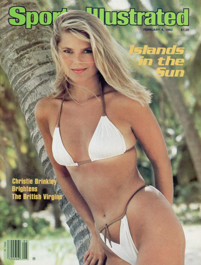 克莉絲蒂布林克利37年前就已經是「運動畫報」的封面泳裝美女。圖/摘自si