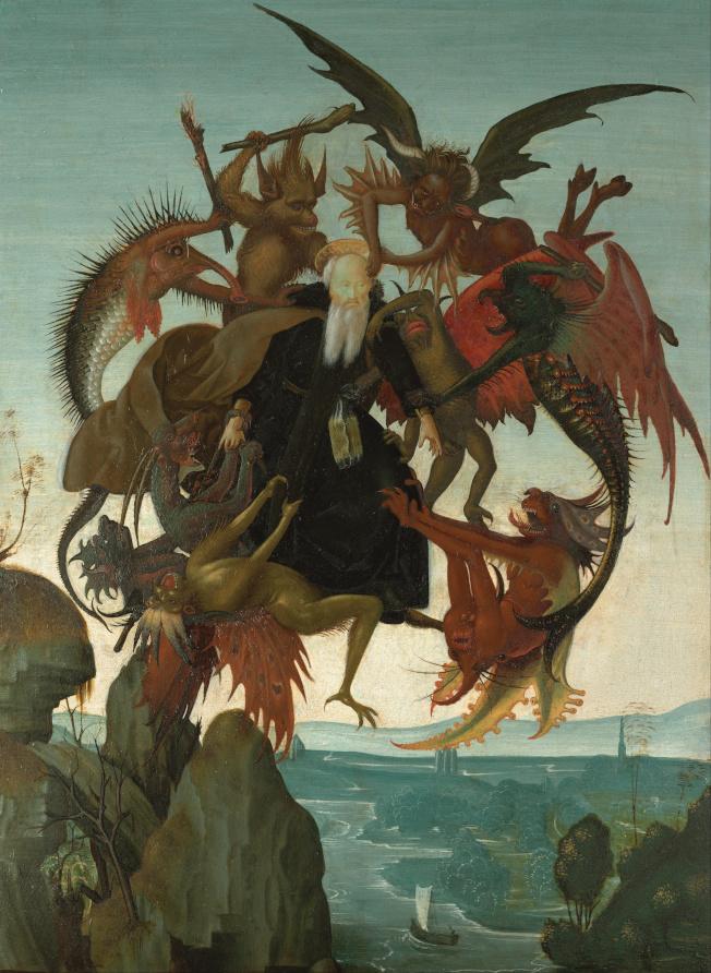 米開朗基羅年僅十二、三歲時創作的繪畫「聖安東尼受難」(The Torment of Saint Anthony)將是此次展覽的亮點之一。(取自維基百科)