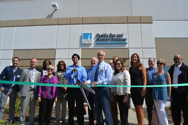 太平洋瓦電公司(PG&E)煤氣安全創新中心11日在東灣都布林市揭幕。 (記者劉先進/攝影)