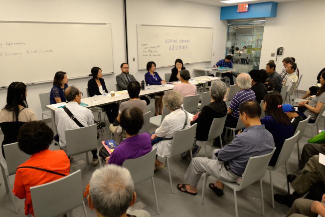 亞平會、市人權委員會、城市保健計畫等機構12日合辦房屋法律諮詢講座。(記者朱澤人/攝影)