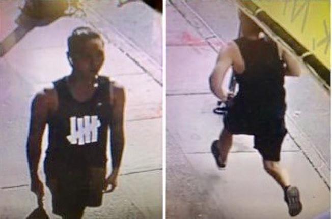 24日華埠附近亞裔搶劫,並將受害人打傷。(警方提供)