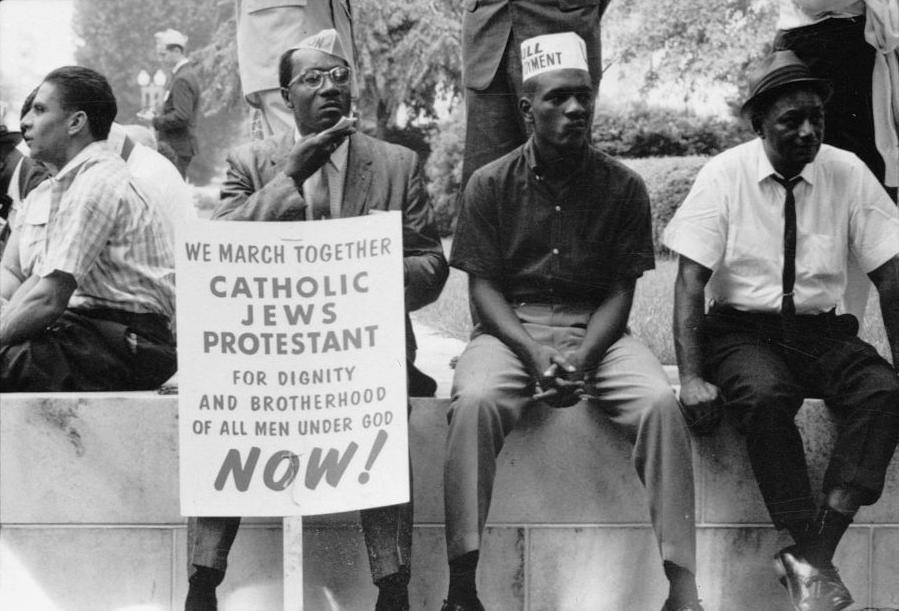 1965年阿拉巴馬州遊行。圖/維基百科