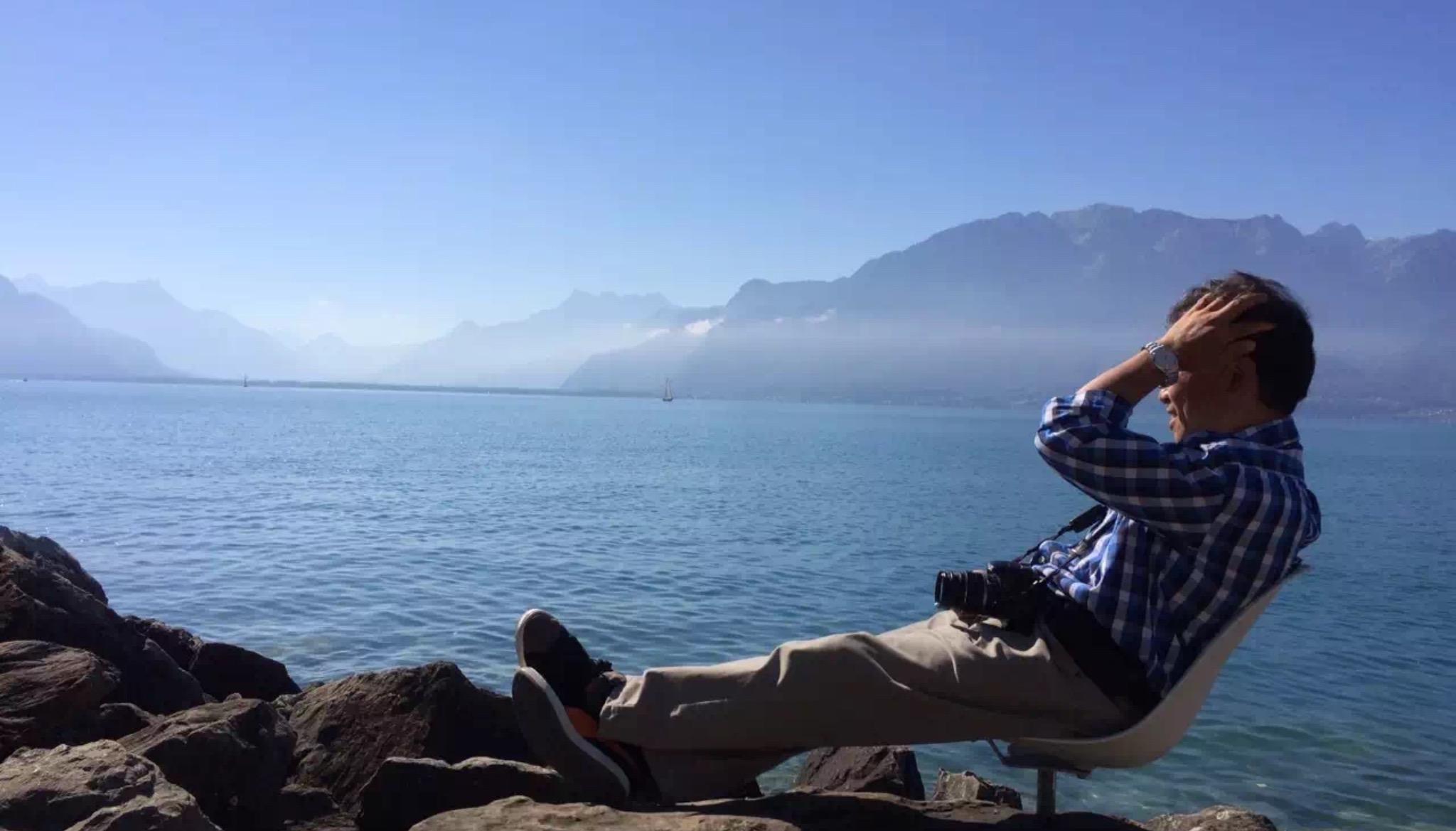 日內瓦湖畔Lake Geneva 。