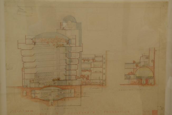 古根漢美術館剖面圖。(記者許振輝/攝影)