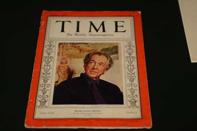 萊特成為《時代》雜誌1938年1月17日封面人物。(記者許振輝/攝影)