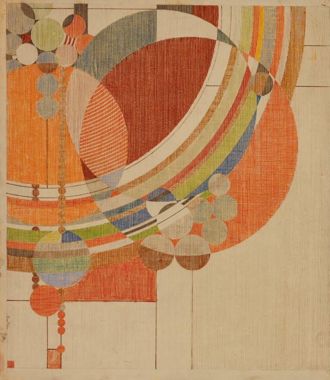 萊特1926年為《Liberty》設計的雜誌封面。(MoMA提供)