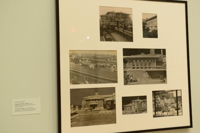 帝國飯店昔日照片。(記者許振輝/攝影)