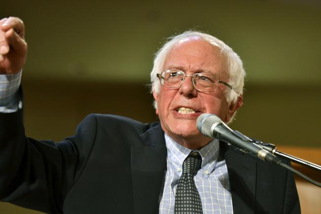 聯邦參議員桑德斯(Bernie Sanders)。 (美聯社)