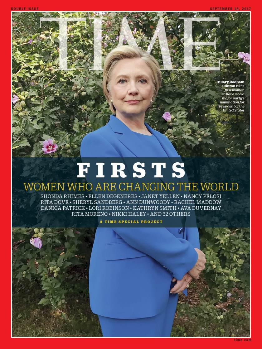喜萊莉‧柯林頓登上最新一期「時代雜誌」封面。(取自時代雜誌)