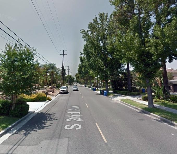 第二街南段2300號街區8日發生入室搶劫和戶外劫車案。(谷歌地圖)